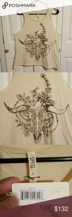 Spell & The Gypsy Wildflower Buffalo Singlet M NWT. Please see the photos provided and ask any questions prior to purchasing. The price is FIRM due to what I paid plus POSH fees. Cross posted. Spell & The Gypsy Collective Tops Tank Tops