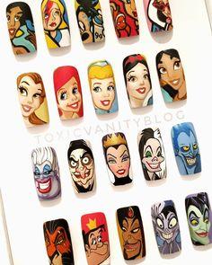 Disney Acrylic Nails, Disney Nails, Long Acrylic Nails, Nailart Gel, Nail Manicure, Glam Nails, Matte Nails, Nail Art Dessin, Disney Nail Designs