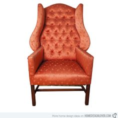 A wingback chair from the 30′s that has an extraordinary profile. It can give your space not just an antique touch but also a bold and stylish touch.
