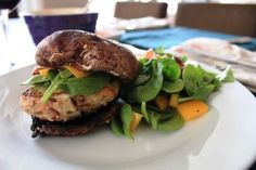 Not sure you can enjoy a turkey burger with out the bun? Read these tips on how a slow carb dieter can enjoy a burger, and get unique recipe suggestions. Easy Healthy Recipes, Healthy Snacks, Healthy Eating, Healthy Alternatives, Healthy Choices, Clean Eating, Turkey Feta Burgers, Salmon Burgers, Pastrami