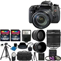 Canon EOS Rebel T6s DSLR Camera USA Warranty With Canon EFS 18135mm f3556 IS STM Lens  58mm 2x Professional Lens High Definition 58mm Wide Angle Lens  Auto Flash  59 Strong lightweight Tripod  UV Filter Kit With 64GB Complete Deluxe Accessory Bundle ** Read more reviews of the product by visiting the link on the image.