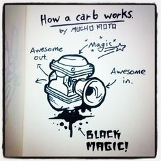 Mucho Moto gives a lesson in the magical way a carb works.