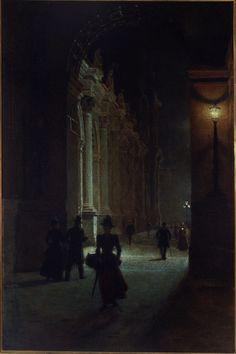 Aleksander Gierymski -Luwr w nocy
