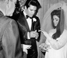 Inspiring image 60s, bride, classic, classy, couple, dress, elvis presley, fashion, glamour, gown, groom, hair, love, old hollywood, priscilla presley, retro, romance, style, suit, vintage, wedding #3027702 by marine21 - Resolution 750x937px - Find the image to your taste