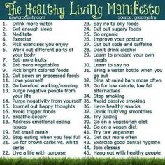 The Healthy Living Manifesto - Living Well Nutrition Get Healthy, Healthy Habits, Healthy Tips, Healthy Eating, Healthy Food, Healthy Bodies, Yummy Food, Healthy Treats, Healthy Choices