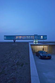 360 °: Design Villa Kogelhof in Zeeland - cool architecture - Architektur Architecture Bauhaus, Cantilever Architecture, Le Corbusier Architecture, Architecture Awards, Futuristic Architecture, Residential Architecture, Contemporary Architecture, Amazing Architecture, Interior Architecture