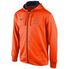 Detroit Tigers Nike Flash Full Zip KO Performance Hoodie - Orange - $63.99