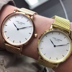 """Follow our Snapchat """"Larsenwatches"""" 💋👻  LW44 in gold and rose gold. www.larsenwatches.com"""