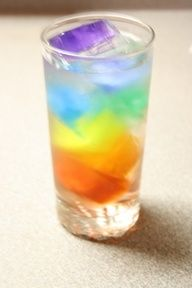 """Rainbow Water   Use food coloring to add color to your ice cubes. Add them to a cup of water or soda and wow your grandkids with this fun beverage!   # Pin++ for Pinterest #"""" data-componentType=""""MODAL_PIN"""