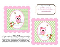 Owl Banner DIY PRINTABLE for birthday or by mylittleworldstore, $15.00