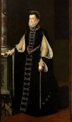 Sofonisba Anguissola «Portrait of Elisabeth of Valois Queen consort of Spain ,retrato de Felipe II Mode Renaissance, Renaissance Clothing, Renaissance Fashion, Historical Costume, Historical Clothing, 16th Century Fashion, 14th Century, Spanish Fashion, European Fashion