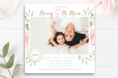This vibrant, colorful 5x5 marketing board is perfect for announcing upcoming Mommy & Me Photo Sessions! Use this board to post to your Facebook page, blog or website and advertise your latest Mother's Day Mini Sessions in style. This digital marketing board will be perfect to use as flyer,
