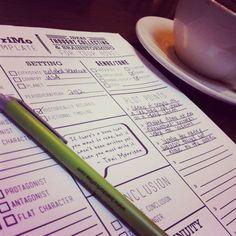Novel Writing 2012 brainstorming templates