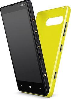 Yellow Nokia Lumia 820 Back Casing (Shells)