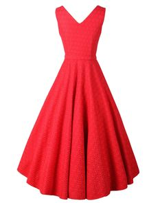 Luouse Classy Vintage Audrey Hepburn Style 1950's Rockabilly Swing Evening Dress at Amazon Women's Clothing store: