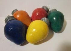 Light bulb clay ornaments