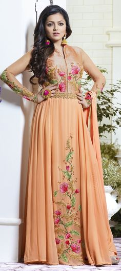 491094: Pink and Majenta  color family  semi-stiched Bollywood Salwar Kameez .