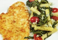 You'll love my panko breaded flounder, quick fried in kelapo coconut oil, so fried flounder just got healthier. My pasta with broccoli rabe is a great side, and compliments the flavors so well!