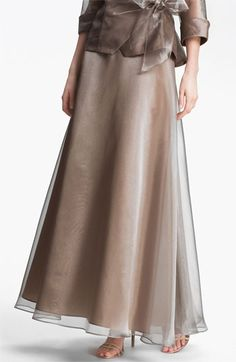 Alex Evenings Metallic Organza Flare Skirt $95.0 by nordstrom