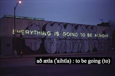 að ætla : to be going (to)