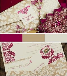 Indian inspired wedding invites