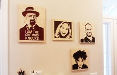 Custom scroll saw portrait - Personalized wooden portrait - Plywood - Wall art
