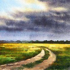 Varvara Harmon: Original Watercolor Painting
