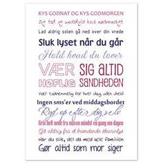 Plakat Vores hjem Colours - Vælg str.