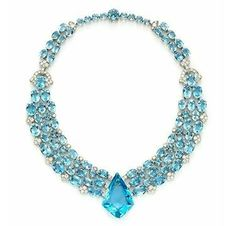 Cartier An Art Deco Aquamarine and Diamond Necklace, circa 1938 by tabitha