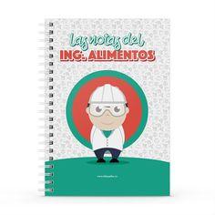 Cuaderno XL - Las notas del ingeniero de alimentos, encuentra este producto en nuestra tienda online y personalízalo con un nombre. Cover, Products, Food Items, Engineer, Notebooks, Report Cards, Store