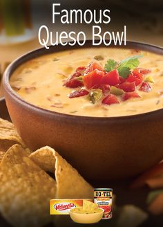 RO*TEL Famous Queso Dip – a famously classic dip recipe that will make everyone want to double-dip at your next Quesoccasion!
