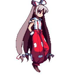 Mokou Arte 8 Bits, Pixel Characters, 8 Bit Art, Anime Pixel Art, Pixel Animation, Pet Turtle, Danganronpa Characters, Gifted Kids, Great Videos