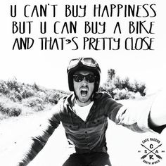 You can't buy happiness! #CafeRacersSA #caferacer #vintage #motorcycles #happiness
