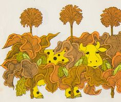 """c86: """" Taken from Who, said Sue, said Whoo?, 1973 Written and illustrated by Ellen Raskin """""""