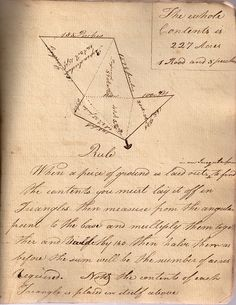 The Principles of Surveying (rule) antique geography notebook 1804