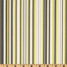 Michael Miller Citron Gray Play Stripe Citron from @fabricdotcom  Designed for Michael Miller Fabrics, this cotton print features a stripe in colors of citron, white and grey. The stripe is vertical to the selvedge.  Use for quilting and craft projects.