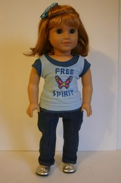 Free Spirt 4 piece outfit to fit your 18 inch by MiniMeDollyDivas, $25.00