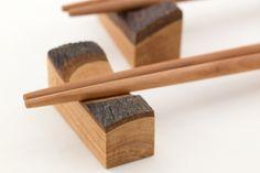 箸置き of apple tree / wooden tableware / aomori prefecture