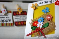 Crochet Flower Bouquet Photo Frame bouquet de flores al crochet