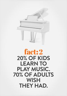Australians agree that playing an instrument is fun, a good way of expressing yourself, and gives a sense of accomplishment.  One third of kids learn to play musical instruments outside of school, and 70% of adults end up wishing they had learned.