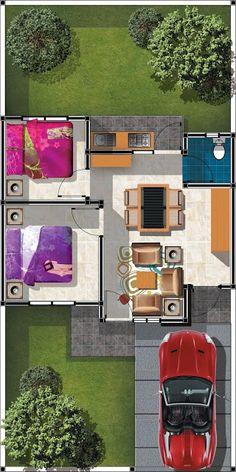 Gambar model denah rumah minimalis type 36 warna - Gambar Model Rumah Minimalis Modern