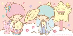 Sanrio: Little Twin Stars:) My Melody Wallpaper, Sanrio Wallpaper, Hello Kitty Wallpaper, Kawaii Wallpaper, Kawaii Shop, Kawaii Cute, Sanrio Characters, Cute Characters, Star Banner