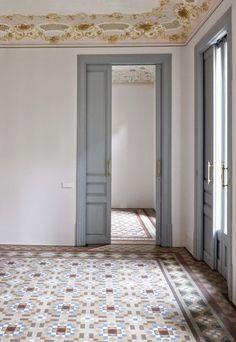 cute home decor Painting Tile Floors, Tile Flooring, Interior Decorating, Interior Design, Vintage Interiors, My Dream Home, Interior Inspiration, Interior And Exterior, Beautiful Homes