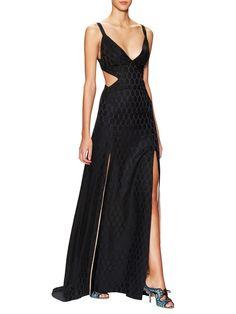 Salerno Silk Strappy Gown - Temperley London