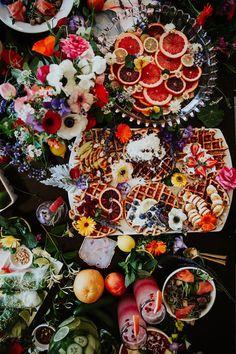 Bright floral bridesmaid brunch ideas