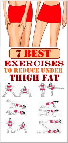 Exercise to reduce thighs - 7 Best Exercises to Reduce Under Thigh Fat – Exercise to reduce thighs Exercise To Reduce Thighs, Do Exercise, Excercise, Thigh Reducing Exercise, Fitness Workouts, Easy Workouts, Workout Routines, Fitness Humor, Fitness Goals