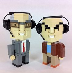 Carl Kasell & Peter Sagal from Wait Wait Don't Tell Me. In Legos.