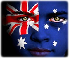 Wow, that's some great face painting. and very patriotic! My kids would love Australian flag faces this Australia Day :) Happy Australia Day, Moving To Australia, Visit Australia, Western Australia, Australian People, Australian Flags, Flags Of The World, We Are The World, Online Forex Trading