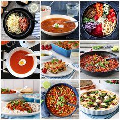 DE 10 MEST POPULÆRE VEGETARMIDDAGENE | TRINES MATBLOGG Bolognese, Feta, Curry, Ethnic Recipes, Spinach, Curries
