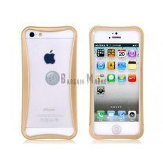 Arc Design Metal Frame for iPhone 5 (Gold)